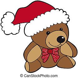 kerstmis, teddy beer