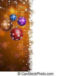 kerstmis, vakantie, kaart