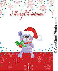 kerstmis, vector, achtergrond, beeld