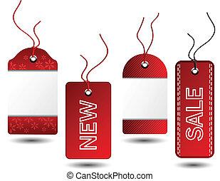 kerstmis, vector, verkoop, markeringen