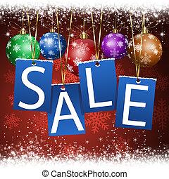 kerstmis, verkoop, kennisgeving