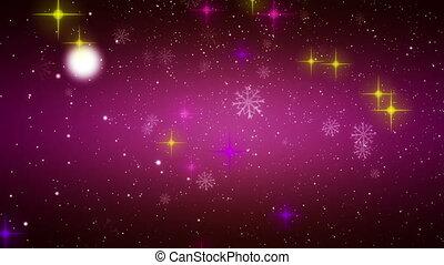 kerstmis, video, animatie, lus, hd