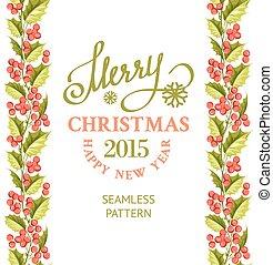 kerstmis, vrolijk, card.