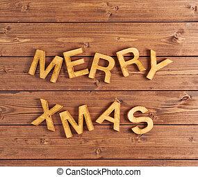 kerstmis, vrolijk, samenstelling