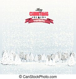 kerstmis, winterlandschap, achtergrond., vector.