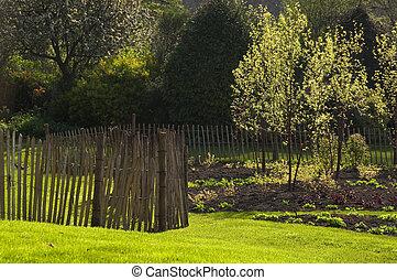 kert, alatt, eredet