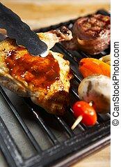 kerti-parti, -, grill, élelmiszer