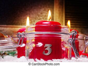 kerzen, 3., advent