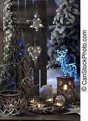 Kerzen, Fokus,  closeup, hintergrund, Weihnachten, heraus
