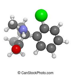 ketamine, Środek znieczulający, molekularny, wzór, narkotyk