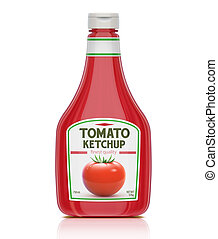 Ketchup bottle - illustration of ketchup bottle isolated on...
