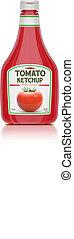 ketchup bottle - Vector illustration of ketchup bottle...