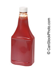 Ketchup - Bottle of ketchup isolated on a white background