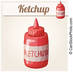 Ketchup. Detailed Vector Icon