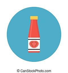 ketchup flat icon