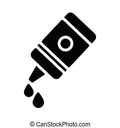 ketchup glyph flat vector icon