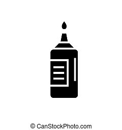 ketchup icon, vector illustration, black sign on isolated background
