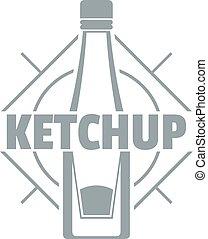 Ketchup logo, simple gray style
