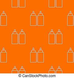 Ketchup mustard squeeze bottle pattern orange