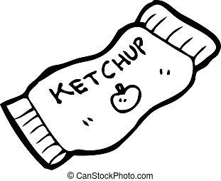 ketchup packet cartoon