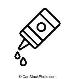 ketchup thin line vector icon