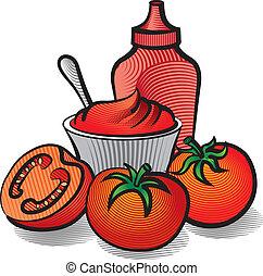 ketchup, tomates