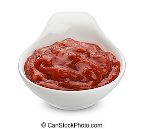 Ketchup. Tomato sauce isolated on white background