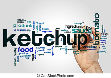 Ketchup word cloud concept