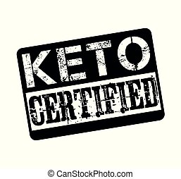 Keto sertified stamp isolated on white background
