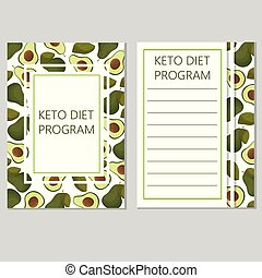 ketogenic diet template, low carbs, high healthy fat -...