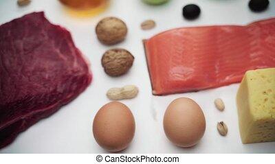 ketogenic, dietic, etenswaar achtergrond