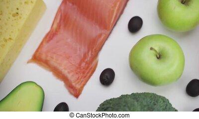 ketogenic, dietic, speise hintergrund