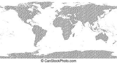 kettes számrendszerhez tartozó, világ térkép