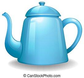 Kettle - Close up plain design of blue kettle