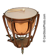 kettle drums - instrument cymbals on a white background