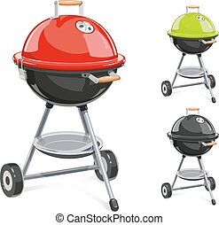 Kettle For barbecue with lid.