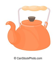 Kettle icon in cartoon style