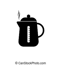 Kettle icon isolated on white background. Vector illustration