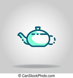 kettle icon or logo in  twotone - Logo or symbol of kettle ...