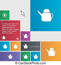 Kettle Icon sign. buttons. Modern interface website buttons with cursor pointer. Vector