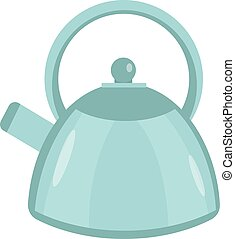 Kettle icon vector flat style. Isolated on white background.  illustration