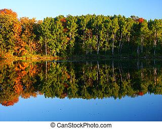 Kettle Moraine - Wisconsin - Beautiful fall colors reflect...