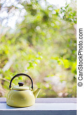 Kettle nature background