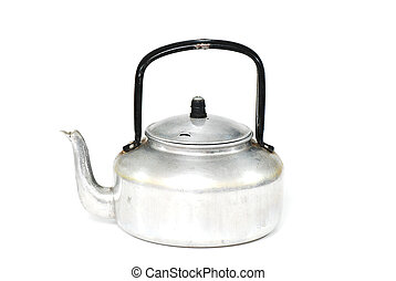 kettle on white background