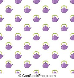 Kettle pattern, cartoon style