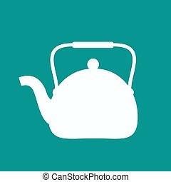 Kettle silhouette icon. Vector illustration