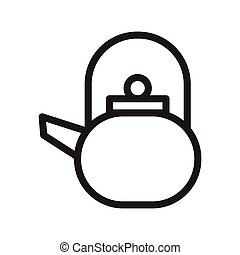 kettle thin line vector icon