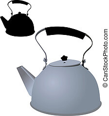 kettle vector object isolated