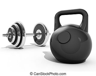 kettlebell and dumbbell - A Kettlebell and Dumbbell