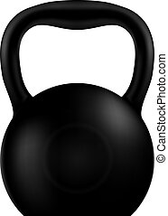 Kettlebell black isolated on a white background. Vector illustra